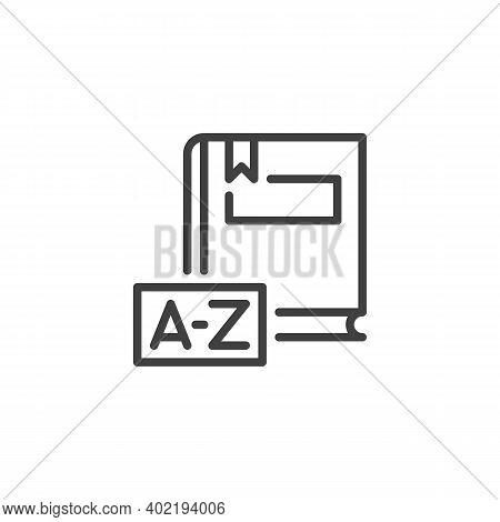 Dictionary Book Line Icon. Linear Style Sign For Mobile Concept And Web Design. Dictionary Book Outl