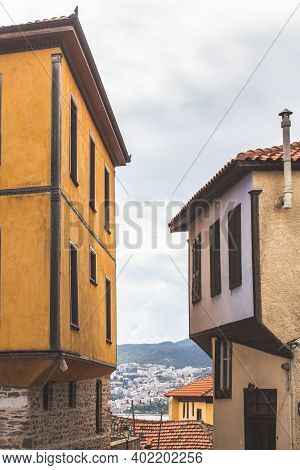 Typical Houses In Kavala, East Macedonia And Thrace, Greece.