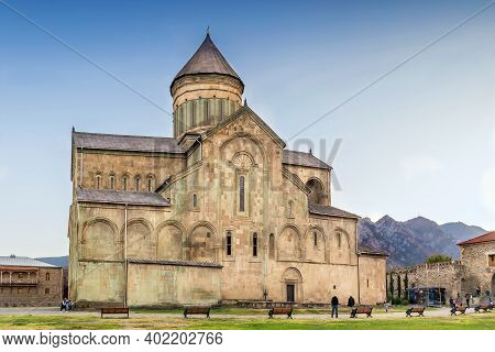 Svetitskhoveli Cathedral Is An Eastern Orthodox Cathedral Located In The Historic Town Of Mtskheta,