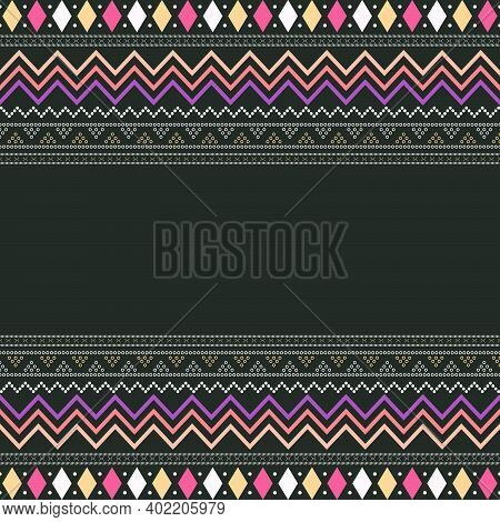 Abstract  Seamless Pattern Fabric. Suitable For Your Print Fabric, Sarong, Ulos, Sari, Doodle Etc. V