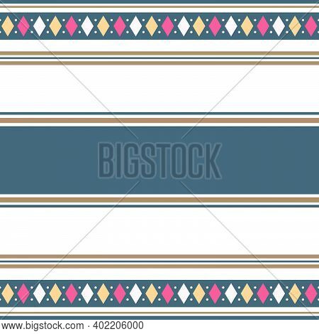 Abstract Striped Seamless Pattern Fabric. Suitable For Your Print Fabric, Sarong, Ulos, Sari, Doodle