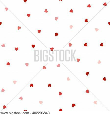 Hearts Seamless Pattern. Repeated Heart. Vector Repeating Texture. For Wallpaper, Banner, Invitation