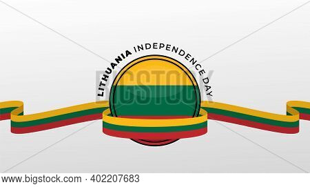 Lithuania Independence Day Vector Illustration With Lithuania Emblem Flag Design. Good Template For