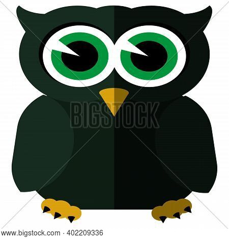 Owl Icon - Owl Isolated , Wild Bird Illustration - Vector Owl
