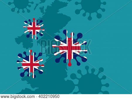 New Coronavirus Strain Attacks United Kingdom - Evolution Of Covid-19 Pandemic - Virus Danger Relati