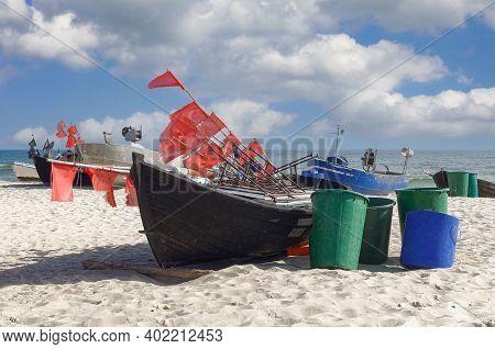 Beach Of Baabe On Ruegen At Baltic Sea,mecklenburg-vorpommern,germany