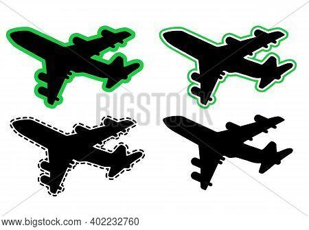Passenger Airplane Liner In The Sky. Illustration