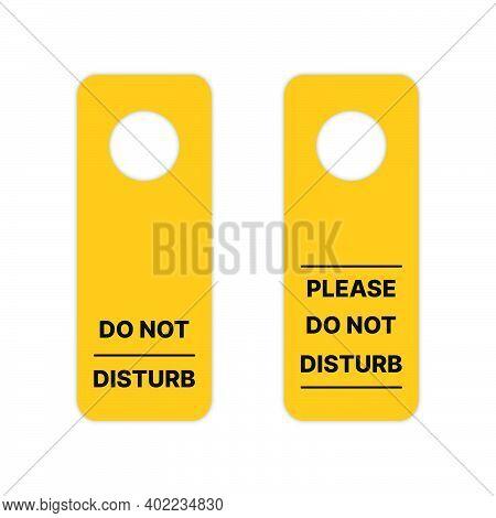 Do Not Disturb Sign Hanging Door. Template Sign For Your Hanging Door In Office, Hotel, Etc With Vec