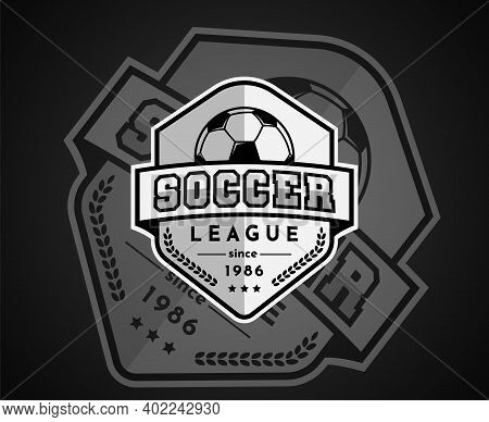 Soccer Or Football Badge Logo Design For A Football Team. Football Club Logo In A White Icon. Vector
