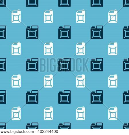 Set Canister For Gasoline And Canister For Gasoline On Seamless Pattern. Vector