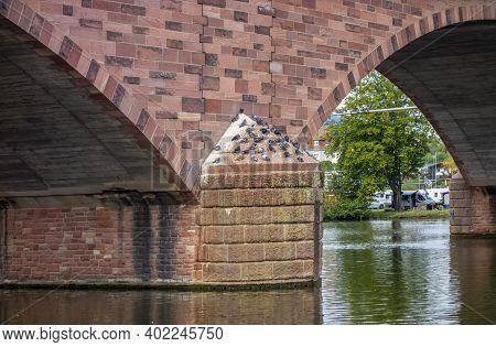 Bridge Detail In Miltenberg, A Town In Lower Franconia, Bavaria, Germany