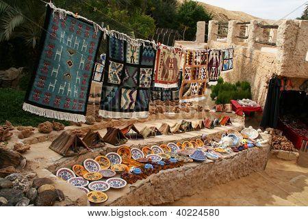 Souvenirs at Chebika Oasis, Tunisia