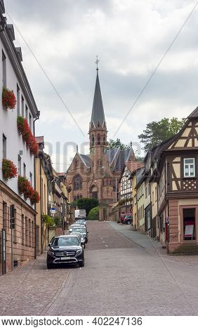 City View Of Miltenberg, A Town In Lower Franconia, Bavaria, Germany