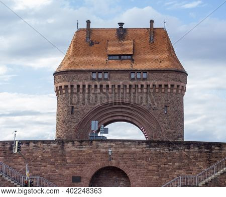 The Gate House At The River Main Bridge In Miltenberg, A Town In Lower Franconia, Bavaria, Germany