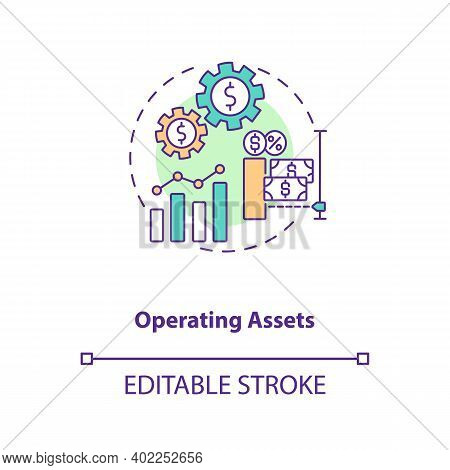 Operating Assets Concept Icon. Am Component Idea Thin Line Illustration. Contributing To Generating