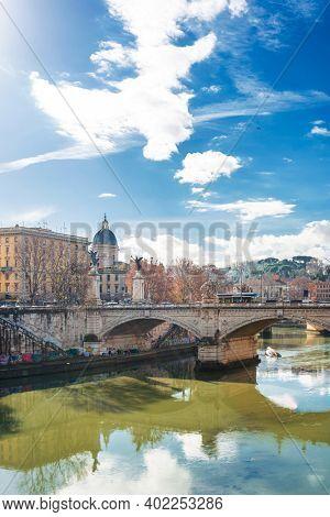 VATICAN CITY, VATICAN - January 18, 2018: Street view of Vatican city
