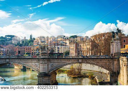 VATICAN CITY, VATICAN - January 18, 2018: beautiful Street view of Buildings, Vatican city