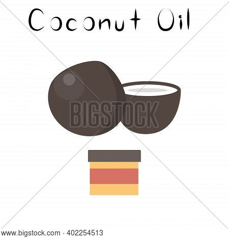 Coconut Oil. Healthy Detox Natural Product. Organik Dietary Supplement Food. Superfood, Nut For Home