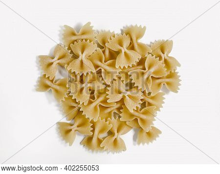 Pinch Farfale Pasta Isolated On White Background. Food Concept.