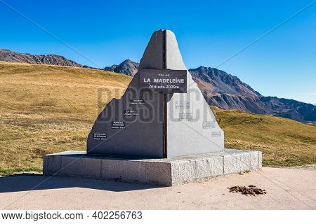 Col De La Madeleine At 2000 M Altitude In The Rhone Alps, France