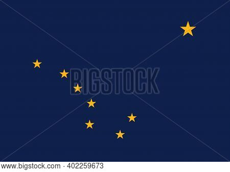 Official Large Flat Flag Of Alaska Horizontal