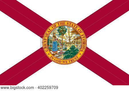 Official Large Flat Flag Of Florida Horizontal
