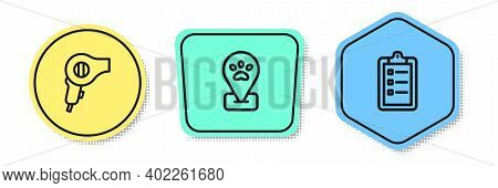 Set Line Hair Dryer, Location Pet Grooming And Grooming Salon Price List. Colored Shapes. Vector