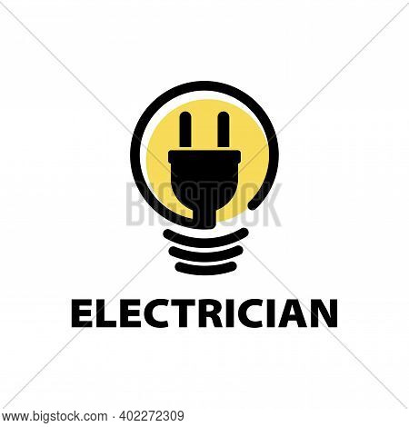 Vector Logo Of Electrician And Electronics Repair