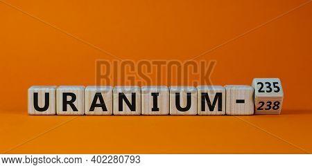 Uranium Enrichment Symbol. Turned The Cube And Changes Words 'uranium-238' To 'uranium-235'. Beautif