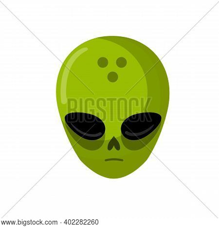 Martian And Ufo. Space Creature And Visitor. Science Fiction Icon. Cartoon Flat Illustration