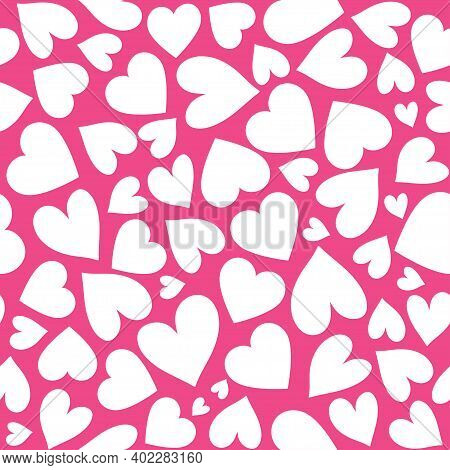 Abstract Seamless Love Pattern. Valentines Day Wrapping Paper. Romantic  Textile, Clothes, Wrapping