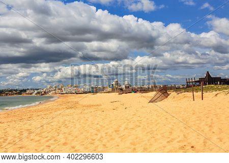 Meia Praia beach in Lagos, Algarve, Portugal
