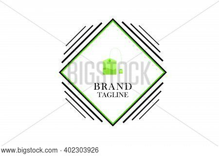 The Green Tea Bag Logo Is Perfect For Cafes That Provide Tea For Warmth
