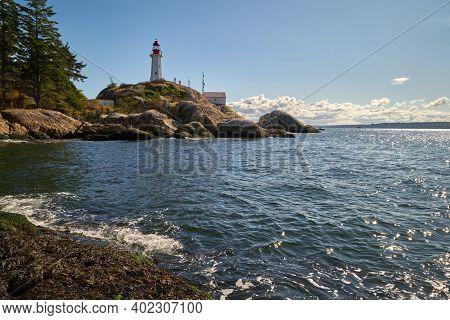 Point Atkinson Lighthouse British Columbia. Historic Point Atkinson Lighthouse, Overlooking Georgia