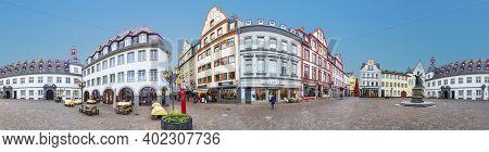 Koblenz, Germany - November 5, 2020: Jesuit Square In Koblenz In The Old Town.