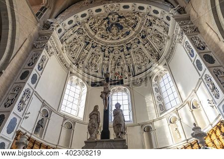 Trier, Germany - November 7, 2020: The Roman Monuments, Cathedral Of St Peter (trier Dom) And Church