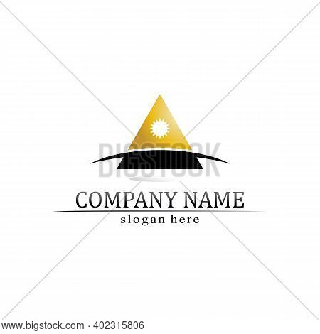 Triangle Pyramid Logo Design And Vector Symbol Egyptian And Logo Business