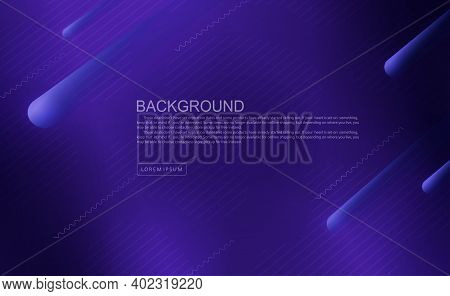 Dark Blue Background With Dull Thin Lines, Wide Oblique Stripes With A Gradient