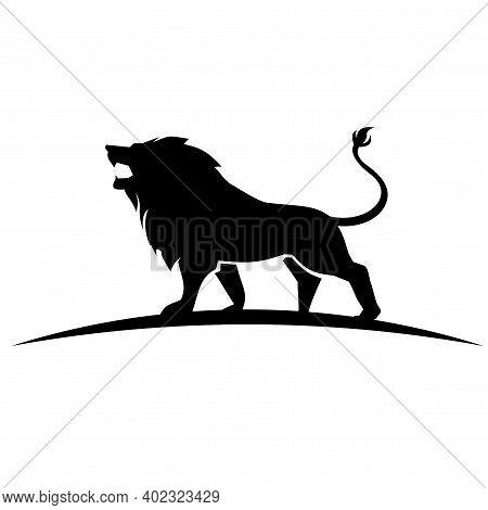 King Lion Logo. Lion Head Logo Design Vector