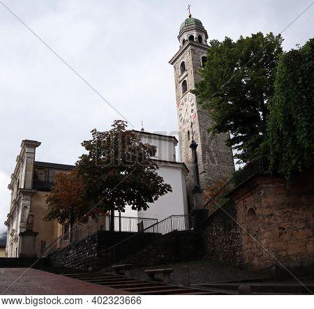 Exterior Of The Cathedral Of San Lorenzo, Lugano, Switzerland