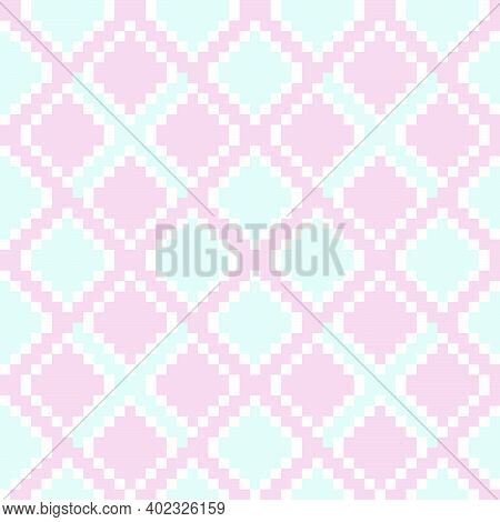 Pink Argyle Seamless Pattern Background