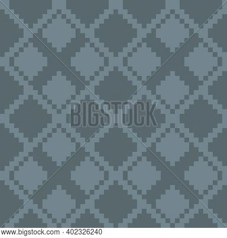 Grey Argyle Seamless Pattern Background