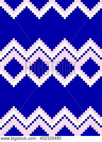 Blue Argyle Seamless Pattern Background