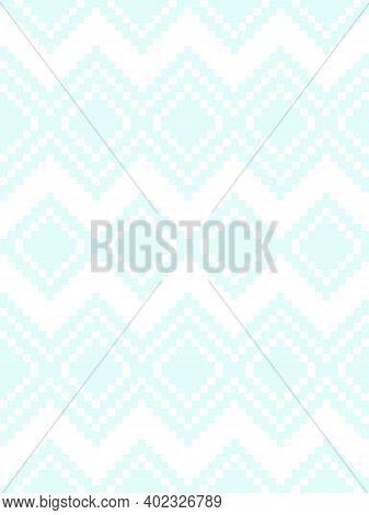 Ice Blue Argyle Seamless Pattern Background