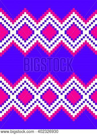Purple Argyle Seamless Pattern Background