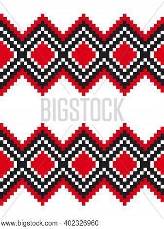Red Argyle Seamless Pattern Background