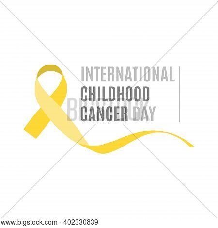Vector Illustration On The Theme Of International Childhood Cancer Day On February 15. Decorated Wit