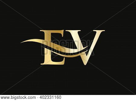 Initial Letter Ev Linked Logo For Business And Company Identity. Modern Letter Ev Logo Vector Templa