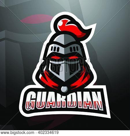 Vector Illustration Of Guardian Head Mascot Esport Logo Design