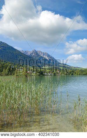 At Lake Walchsee Near Koessen In Tirol,austria